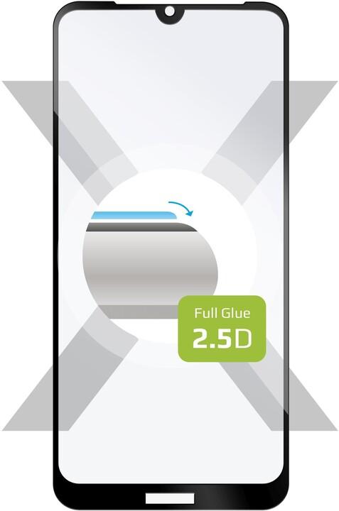 FIXED ochranné tvrzené sklo Full-Cover pro Honor 8S, lepení přes celý displej, černá