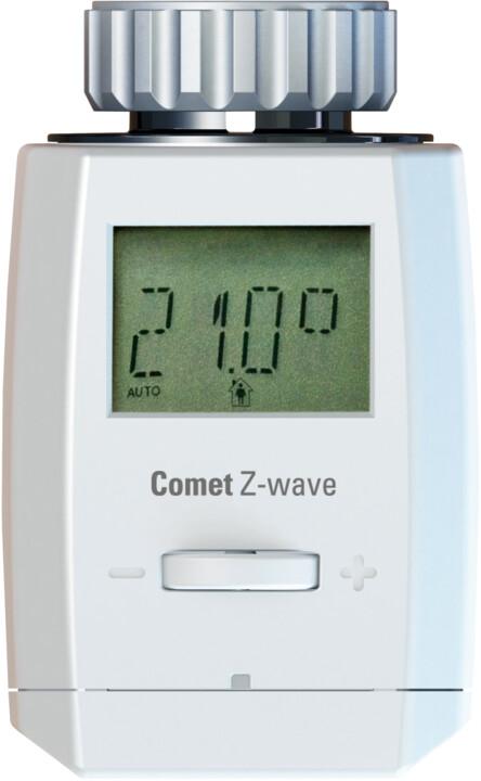 COMET termostatická hlavice, Z-Wave, ruční ovládání