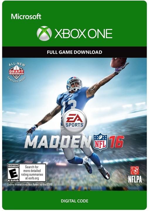 Madden NFL 16: Standard Edition (Xbox ONE) - elektronicky