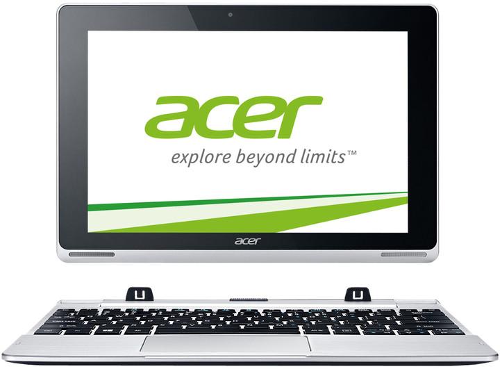 Acer Aspire Switch 10, Z3735F/32GB/W8.1, stříbrná