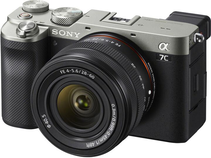 Sony Alpha 7C + 28 - 60mm, stříbrná