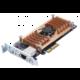 QNAP QM2-2P10G1T - Duální SSD M.2 2280 pro rozhraní PCIe a jednoportová rozšiřující karta sítě 10GbE