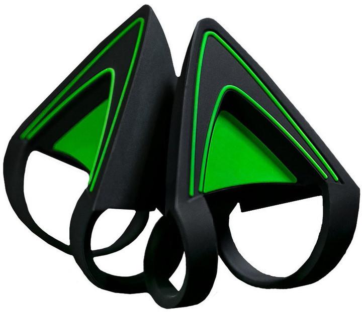 Razer Kraken kočičí uši, zelené