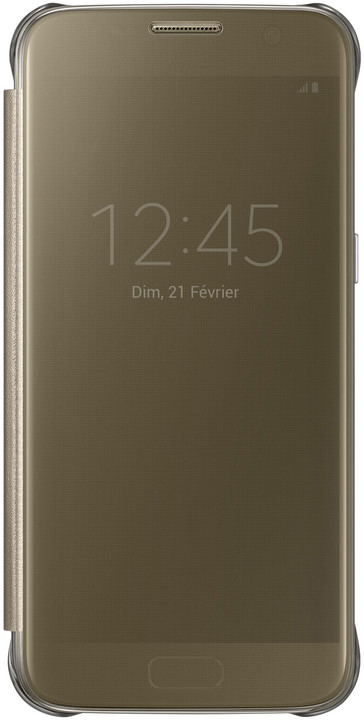 Samsung EF-ZG930CF Flip Clear View Galaxy S7, Gold