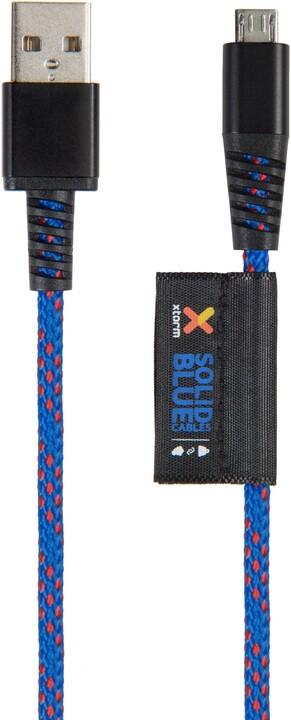Xtorm microUSB kabel Solid 1m, modrý