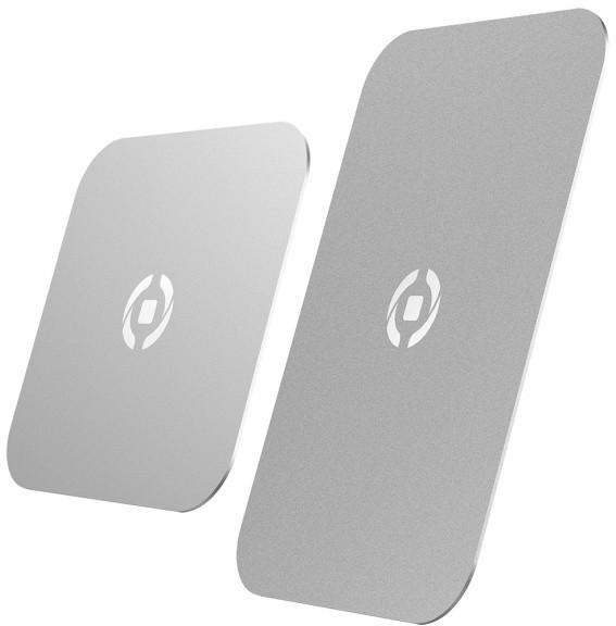 CELLY GHOSTPLATE Plíšky kompatibilní s magnetickými držáky pro mobilní telefony, stříbrný