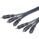 PremiumCord Kabel 3x CINCH-3x CINCH M/M 5m HQ