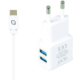 Apei Fast Charge 2x USB adapter + 1x USB-C kabel
