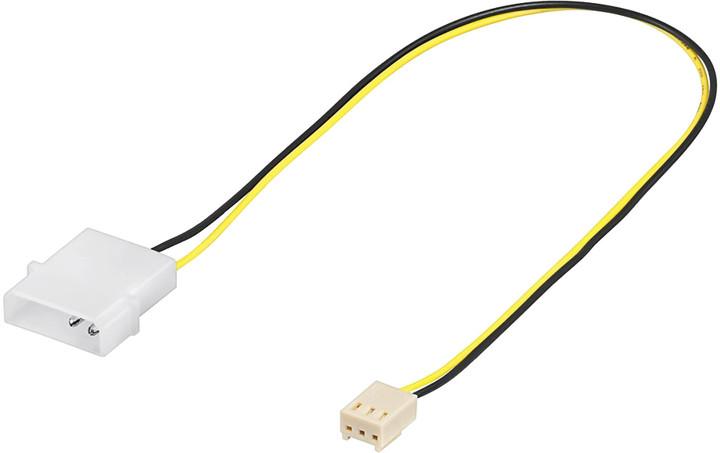"""PremiumCord kabel napájecí pro ventilátor z konektoru MOLEX 5,25"""" na TX 3pin"""