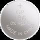 GP LR43 (GP186, 11.6 x 4.2 mm) - 1 ks