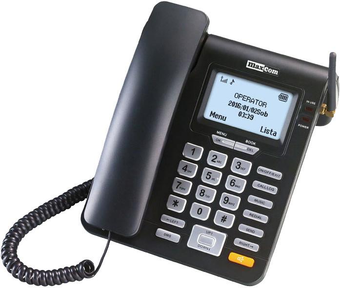Maximobil MM28D, stolní telefon na SIM