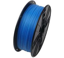 Gembird tisková struna (filament), PLA, 1,75mm, 1kg, luminiscenční modrá