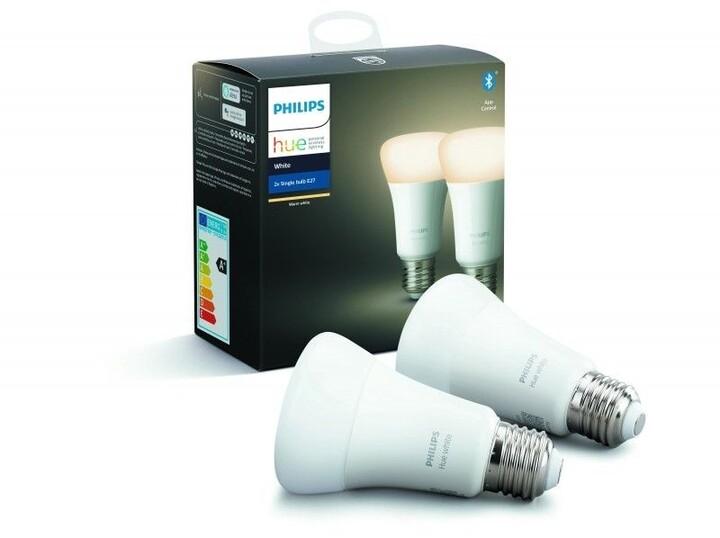 Philips žárovka Hue E27, LED, 9W, 2ks - 2. generace s BT