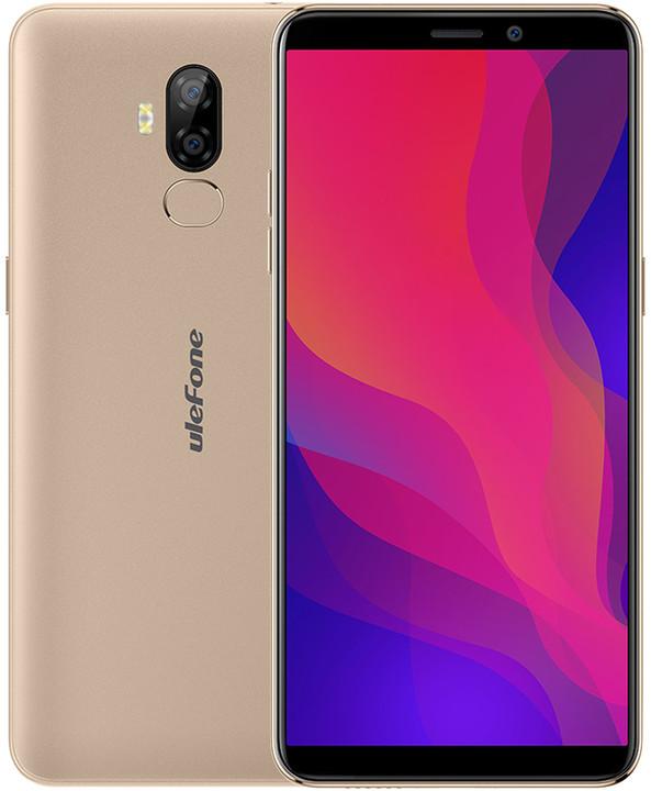 UleFone Power 3L, 2GB/16GB, zlatá