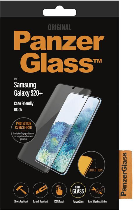 PanzerGlass ochranné sklo Edge-to-Edge pro Samsung Galaxy S20+, FingerPrint Ready, černá