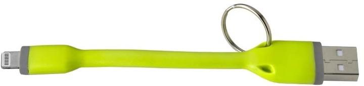 CELLY USB kabel s konektorem Lightning, 12 cm, zelený