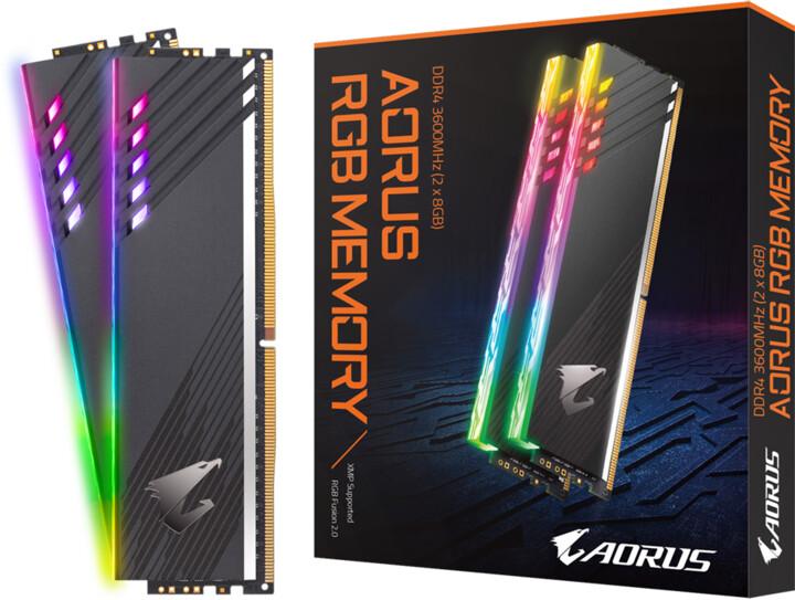 GIGABYTE AORUS RGB 16GB (2x8GB) DDR4 3600 CL18