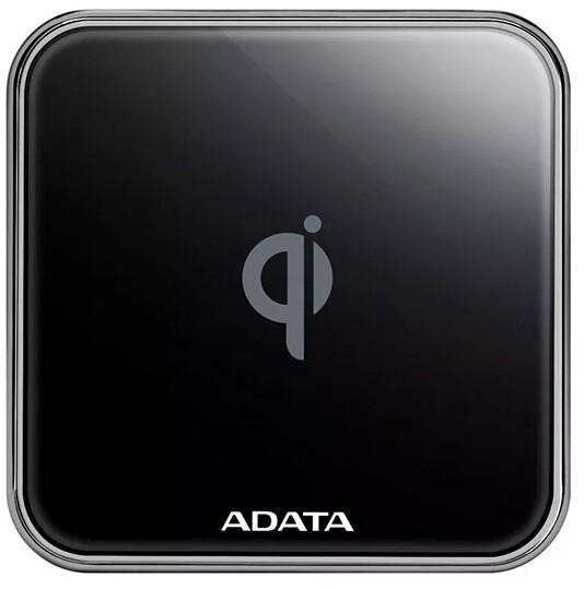 ADATA CW0100 bezdrátová nabíječkas certifikací Qi , černá