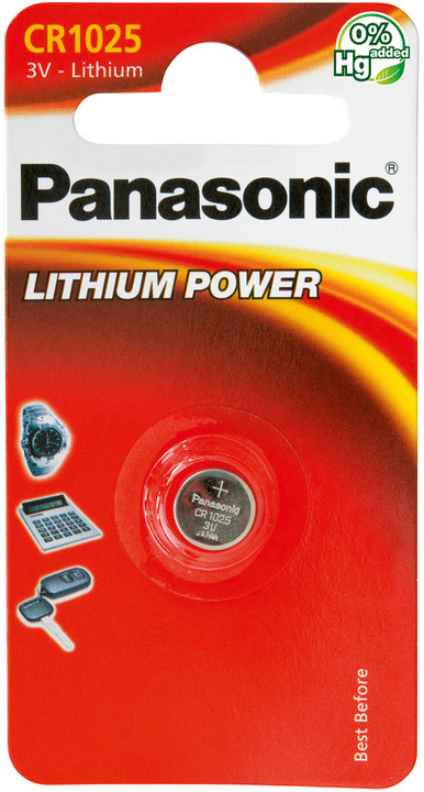 Panasonic baterie CR-1025 1BP Li