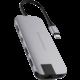 HYPER slim USB-C Hub, šedá  + 300 Kč na Mall.cz