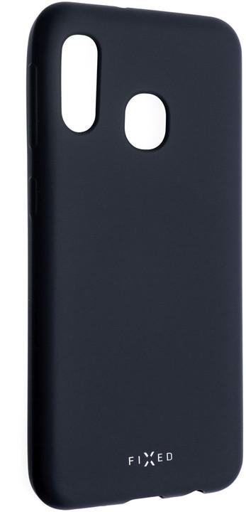FIXED zadní pogumovaný kryt Story pro Samsung Galaxy A20e, modrá