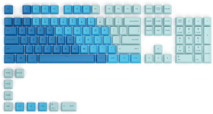 Glorious vyměnitelné klávesy GPBT, 114 kláves, Caribbean Ocean, US