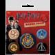 Odznaky Harry Potter - Hogwarts, 5 kusů