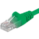 PremiumCord Patch kabel UTP RJ45-RJ45 level 5e, 1m, zelená