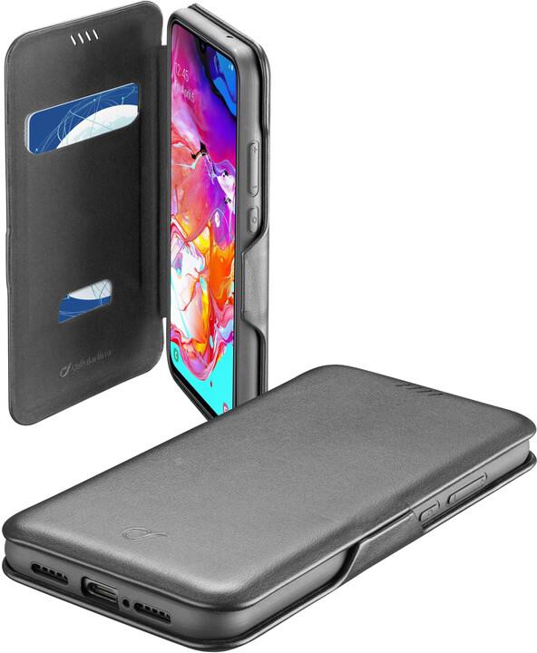 Cellularline pouzdro typu kniha Book Clutch pro Samsung Galaxy A71, černá