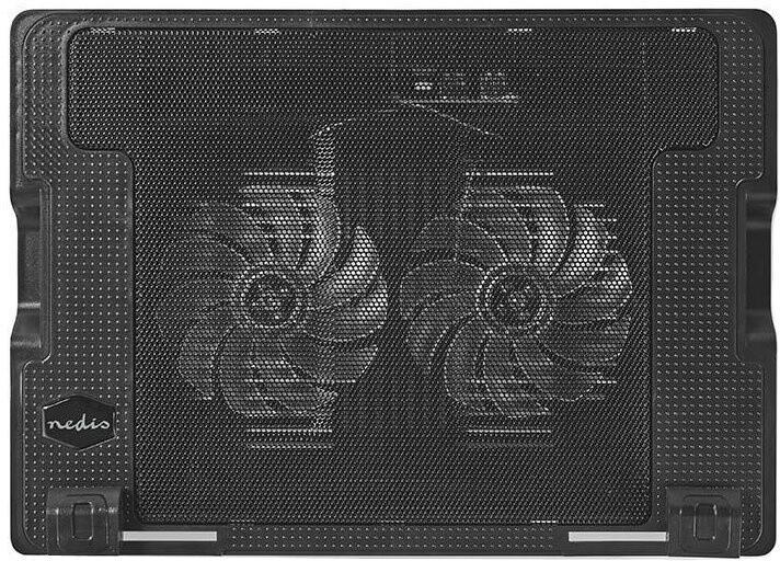 """Nedis chladící stojan na notebook 18"""", 2xUSB, černá"""