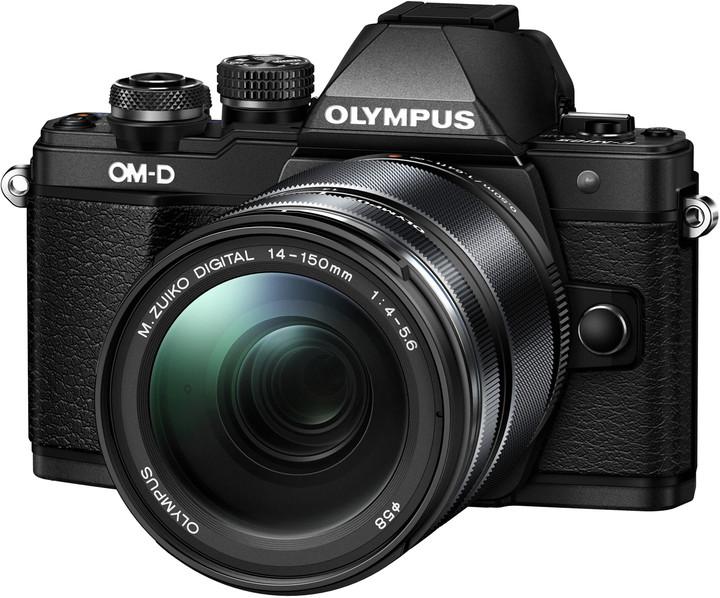 Olympus E-M10 Mark II + 14-150mm II, černá/černá