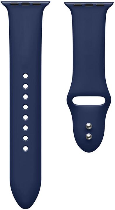 MAX silikonový řemínek pro Apple Watch 4/5, 44mm, modrá