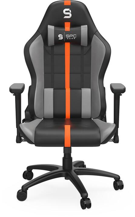 SPC Gear SR400 OR, černá/šedá/oranžová