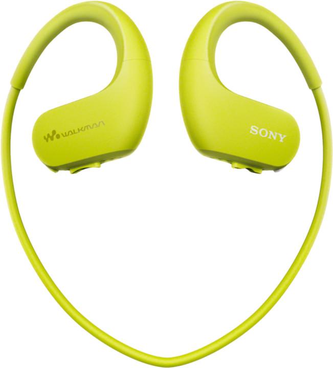 Sony přehrávač NW-WS623, 4GB, limetková
