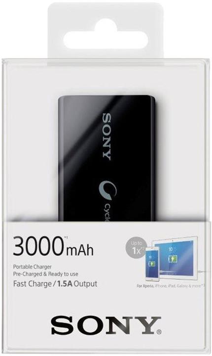 Sony CP-V3AB přenosný zdroj USB, 3000mAh, černá