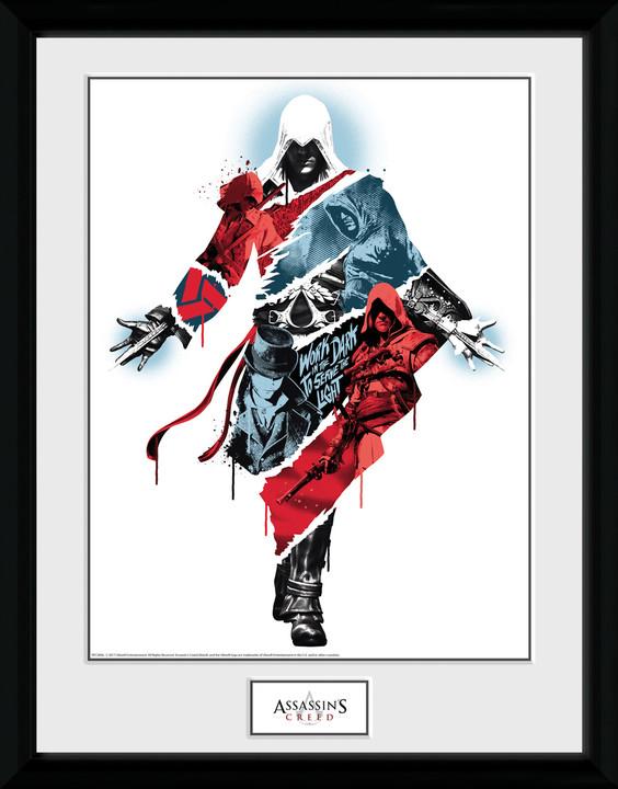 Zarámovaný plakát Assassins Creed - Compilation