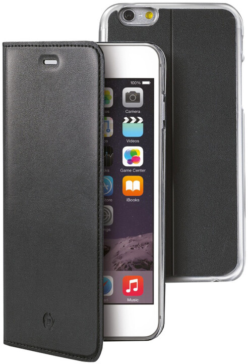 CELLY pouzdro Buddy s odnímatelnou vaničkou pro Apple iPhone 6S Plus, PU kůže, černá