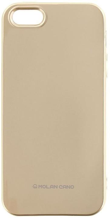 Molan Cano Jelly TPU Pouzdro pro iPhone X, zlatá