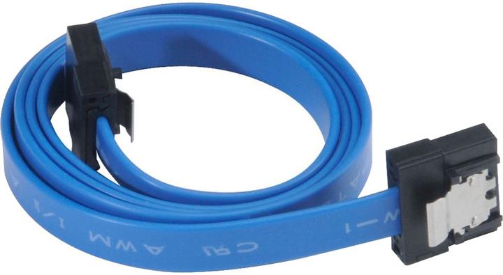 Akasa SATA 3.0, super tenký, 15cm, modrá
