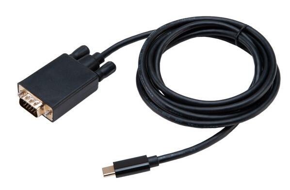 Akasa adaptér USB Type-C - VGA, 1.8m, černá