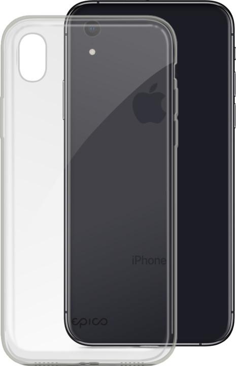 EPICO twiggy gloss ultratenký plastový kryt pro iPhone XR, černý transparentní