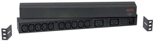 APC rack PDU, 1U, 16A,208&230V, (10)C13 & (2)C19