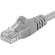 UTP kabel rovný kat.6 (PC-HUB) - 1m, šedá