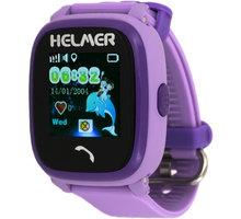 HELMER LK 704 dětské hodinky s GPS lokátorem s možností volní, vodotěsné, fialová - LOKHEL1032