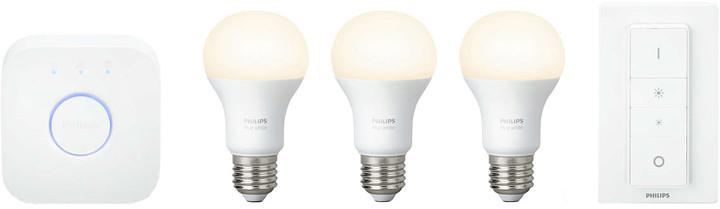 Philips Hue Starter kit E27 White A60 3 set + switch