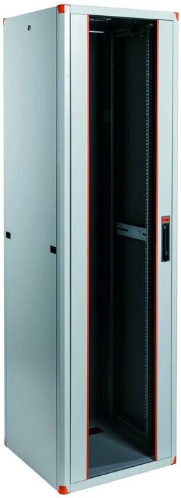 """Legrand EvoLine 19"""" stojanový rozvaděč - 26U, 600x600mm, 1000kg, jednokřídlé skleněné dveře"""