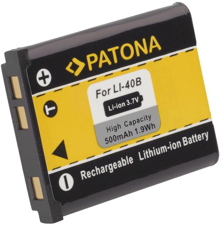 Patona baterie pro Rollei Compactline 800/ Olympus Li-40B/ Li-42B 500mAh