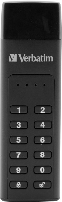Verbatim Keypad Secure Drive USB-C, 128GB, černá