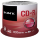 Sony CDR 48x 700MB Spindle, 50ks