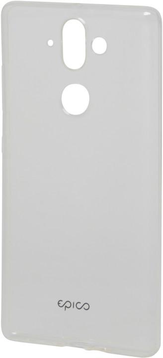 EPICO Pružný plastový kryt pro Nokia 8 Sirocco RONNY GLOSS - bílý transparentní